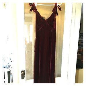 Belle Vere Wine Red Velvet Bodycon Maxi Dress